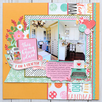 Echo Park Paper I Heart Crafting - Happy Place Layout
