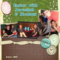 Easter With Jeremiah and Nicolaus