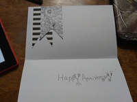 Black and white card challenge