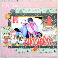 Simple Stories Freezin' Season - Snow Angels Layout