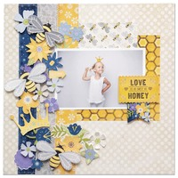 Bee-Utiful You Layout by Bo Bunny Designers