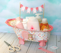 Echo Park Paper Hello Baby Girl - Bath Tub Gift Set