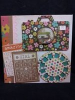 Girl scrapbook album