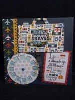 Travel scrapbook album