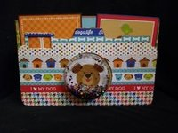 Dog camera scrapbook album