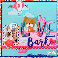 **Doodlebug Design** Live Love Bark