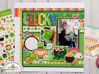 Doodlebug Lots O Luck - Lucky Layout