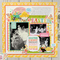 Echo Park Easter Wishes - Easter Layout