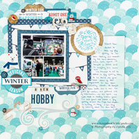 Mini Collage Scrapbook Layout