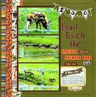 Don't Touch the African Painted Dogs