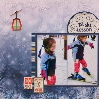1st ski lesson