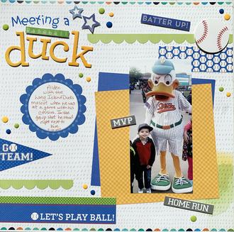 Meeting a Baseball Duck