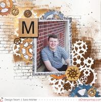M- wood tile letter