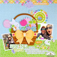 Spring Time layout **Doodlebug Design**