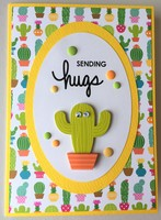 Cactus Hugs Card - May Card Challenge