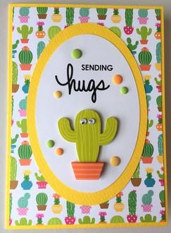 Cactus Hugs Card - May Card Challenge