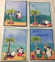 Penguin Beach Party card set