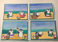 Penguin Beach Party card set 2