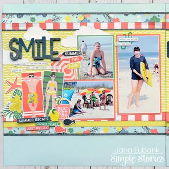 Simple Stories Sunshine & Blue Skies -  SMILE