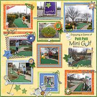Enjoying a Game of Putt Putt Mini Golf