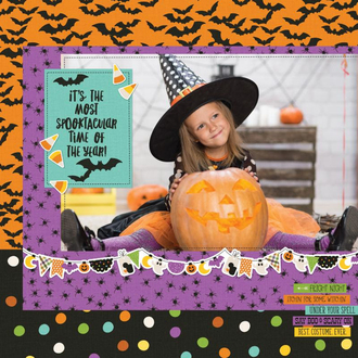Spooktacular Time Of The Year Layout by Simple Stories Designers