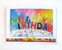 Birthday Card Letter Candles