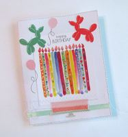Birthday Card Decorated Candles