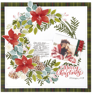 Merry Christmas Layout By Pink Paislee Designers