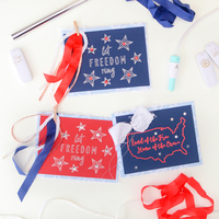 Patriotic Cards with the Foil Quill
