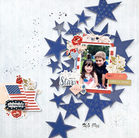 Patriotic Layout with the Foil Quil