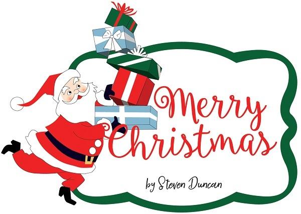Merry Christmas Carta Bella Steven Duncan