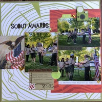 July Build a layout/ Scout Awards