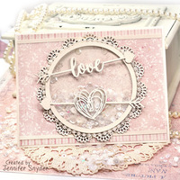 Shaker Card filled with Love