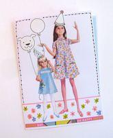 Vintage Pattern Girls Card