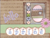 "Hello Spring card (As seen in ""Scrappin', Stampin' & Stationery!"")"