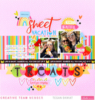 Sweet Vacation Treats Layout