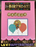 Maddie's 11th Birthday Card