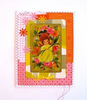 Girl Playing Card Yellow