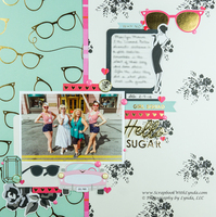 Marilyn Monroe Pink Cadillac Scrapbook Layout