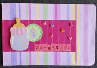 Congrats (baby girl) card