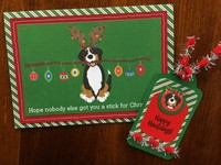 Photoplay Muttcracker Dog Christmas Card