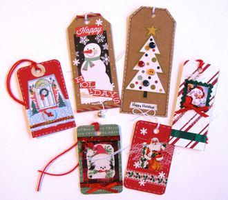 Xmas Tags Santa, Snowman...
