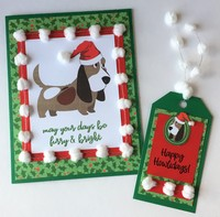 Muttcracker Christmas Dog Card and Tag