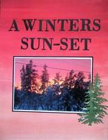 A winters sun-set