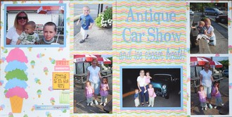 Antique Car Show and ice cream treats