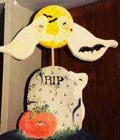 Hand-painted Decorative  Halloween Wood
