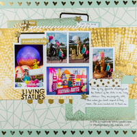 Disney Festival Of The Arts Scrapbook Layout