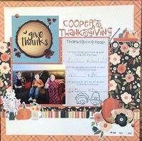 Feb Book Lover's/ Cooper's Thanksgiving