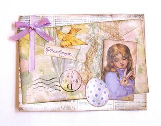 Easter Card Girl