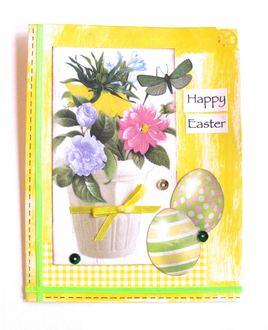 Easter Card Flower Pot